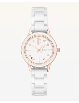 Jc White Ceramic Watch by Juicy Couture
