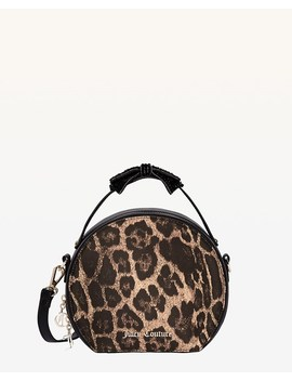 Burnett Leopard Print Round Crossbody Bag by Juicy Couture