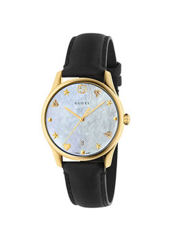 Gucci G Timeless Gold Plated Watch by Beaverbrooks
