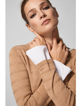 Dual Fabric Jumper With Cuffs by Springfield