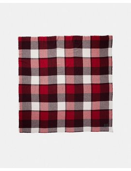 Oversized Plaid Blanket Scarf by Coach