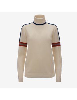 Intarsia Stripe Roll Neck Sweater by Bally