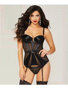 Pleasure Princess Bustier Set by Seven 'til Midnight