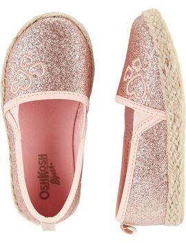 Osh Kosh Pink Glitter Slip On Shoes by Oshkosh