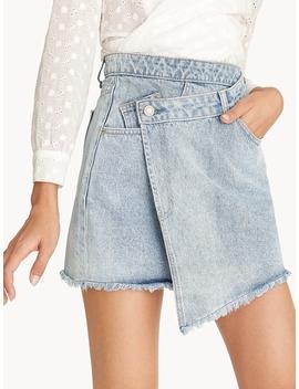 Asymmetrical Wrap Mini Skirt by Pomelo