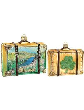 Pinnacle Peak Trading Company Ireland Travel Suitcase Polish Glass Christmas Ornament One Irish Decoration Pinnacle Peak Trading Company Ireland Travel Suitcase Polish Glass Christmas Ornament One Irish Decoration by Pinnacle Peak Trading Company