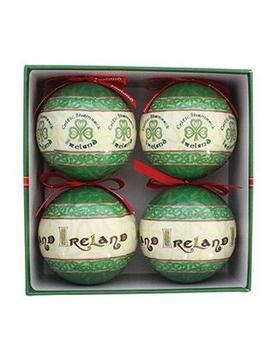 Celtic Irish Celtic Christmas Bauble Tree Decoration Set Of Four Celtic Irish Celtic Christmas Bauble Tree Decoration Set Of Four by Celtic