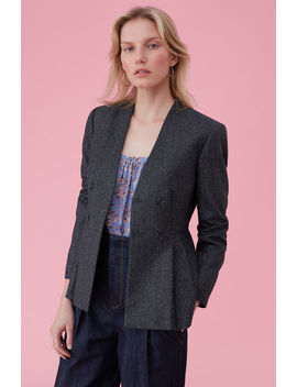 Speckled Herringbone Jacket by Rebecca Taylor