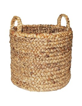 """decorative-basket-natural-13""""x14""""---threshold by shop-this-collection"""
