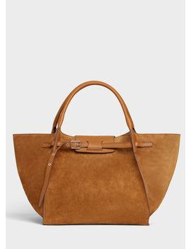 Medium Big Bag In Suede Calfskin by Celine