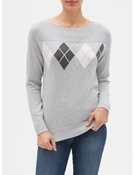 Pullover Boatneck Sweater by Gap