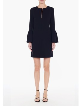 Structured Crepe Ruffle Sleeve Shift Dress by Tibi
