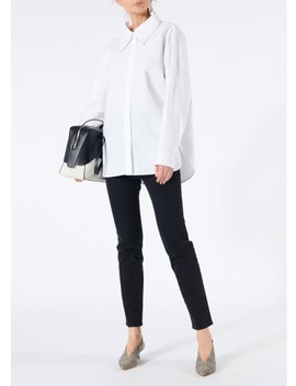 Watts Oxford Easy Shirt With Zipper Detail by Tibi