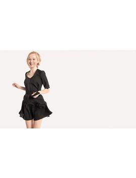 Dotty Spot Zip Front Belt Mini Dress by Nobody's Child
