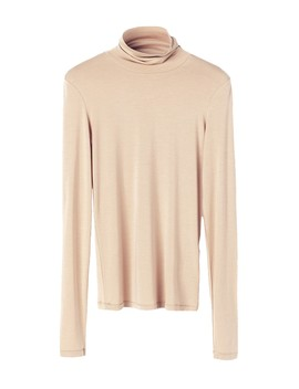 Brown Lounge Carola Turtleneck Top by By Malene Birger