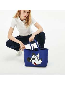 Women's Anna Disney Holiday Collector Print Reversible Tote by Lacoste