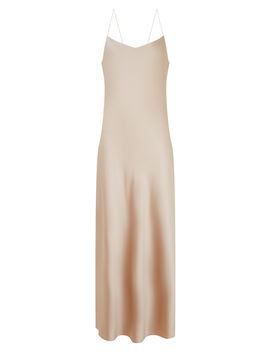 Stone Silk Satin Dress by Joseph