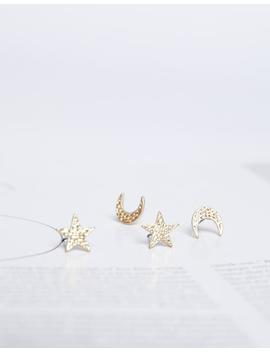 Moons And Stars Earring Set by 2020 Ave