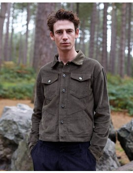 Cord Worker Jacket Khaki by The Idle Man