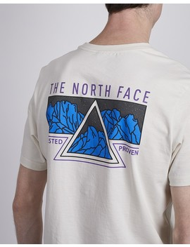 The North Ridge Vintage Short Sleeve T Shirt White by The Idle Man