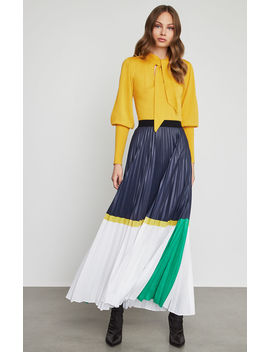 Colorblocked Chintz Maxi Skirt by Bcbgmaxazria
