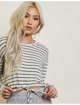 Allie Striped Drawstring Top by 2020 Ave