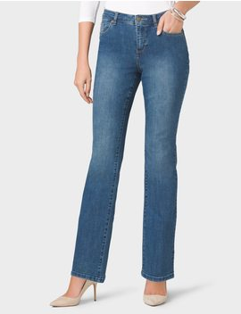 Classic Fit Bootcut Jeans by Dressbarn