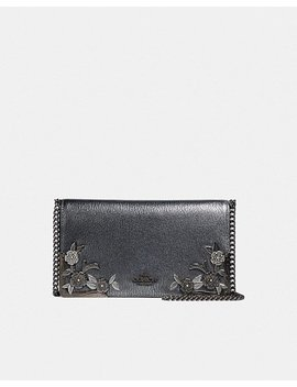 Callie Foldover Chain Clutch With Metal Tea Rose by Coach