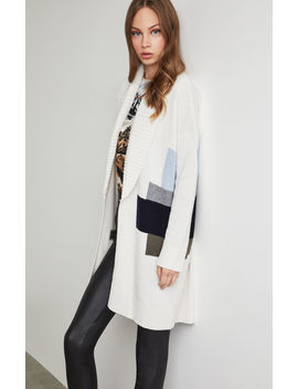 Abstract Landscape Long Cardigan by Bcbgmaxazria