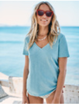 The Cotton V Neck Tee by Boden