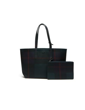 Women's Anna Reversible Bicolor Check Print Tote by Lacoste