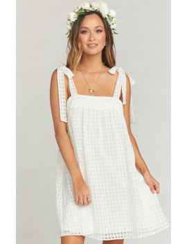 Cleo Tie Top Dress ~ Charmed And Checkered Ivory by Show Me Your Mu Mu