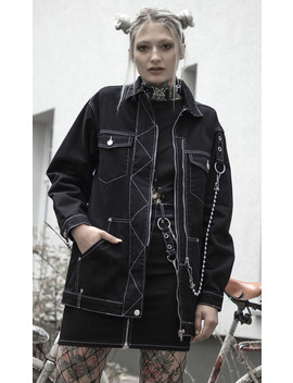 Discord Oversized Jacket by Disturbia