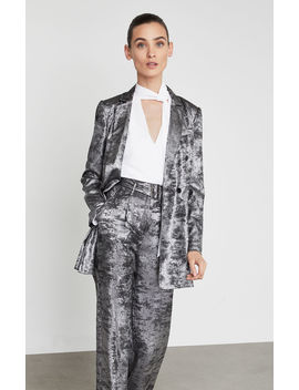 Metallic Double Breasted Long Blazer by Bcbgmaxazria