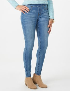 Signature Pull On Denim Jegging by Dressbarn