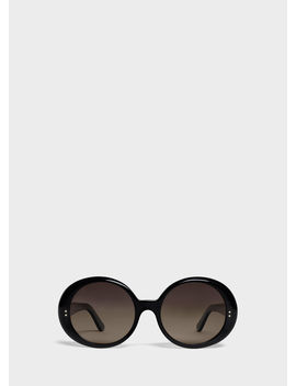 Round Sunglasses In Acetate by Celine