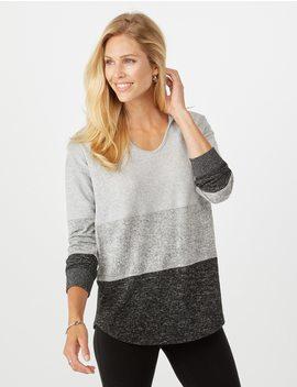 Color Block Sweatshirt by Dressbarn