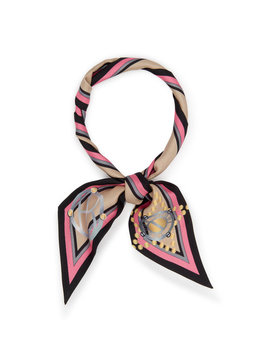 Monogram Skinny Mini Scarf by Henri Bendel
