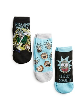 Pack 3 Pares Meias Rick And Morty by Primark