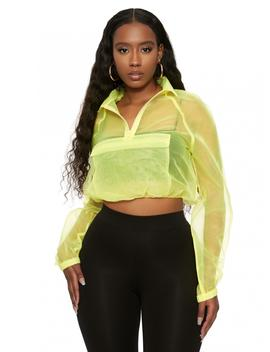 See Right Thru Me Crop Top by Naked Wardrobe