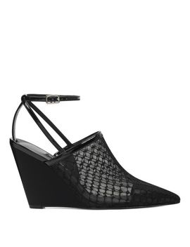 Vachya Pointy Toe Wedge Pumps by Nine West