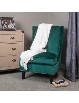 Geneva Velvet Accent Chair by Gdf Studio