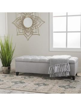 Charleston New Velvet Tufted Storage Ottoman by Gdf Studio
