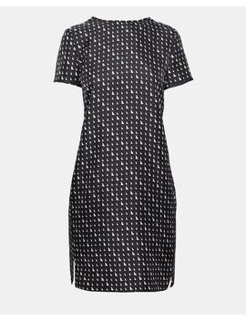 Silk Triangle Print Tee Dress by Theory