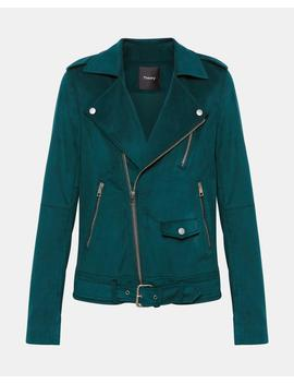 Fulton Faux Suede Modern Moto by Theory