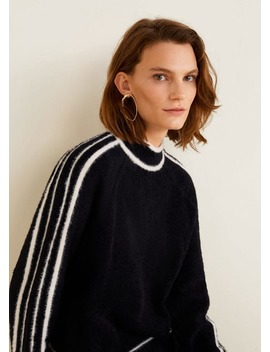 Contrasting Stripes Sweater by Mango