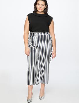 Stripe Crop Pant by Eloquii
