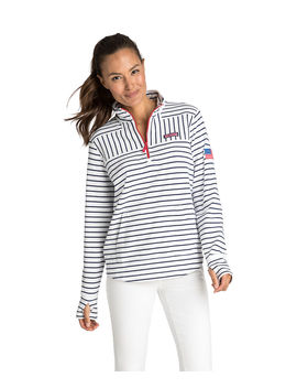 Usa Mixed Stripe Relaxed Shep Shirt by Vineyard Vines