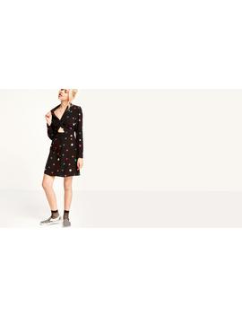 Black Etta Star Print Cutout Mini Dress by Nobody's Child