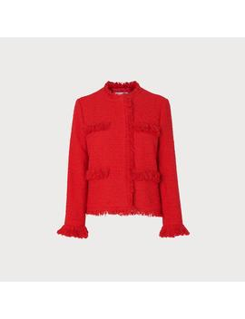 Myia Red Tweed Jacket by L.K.Bennett